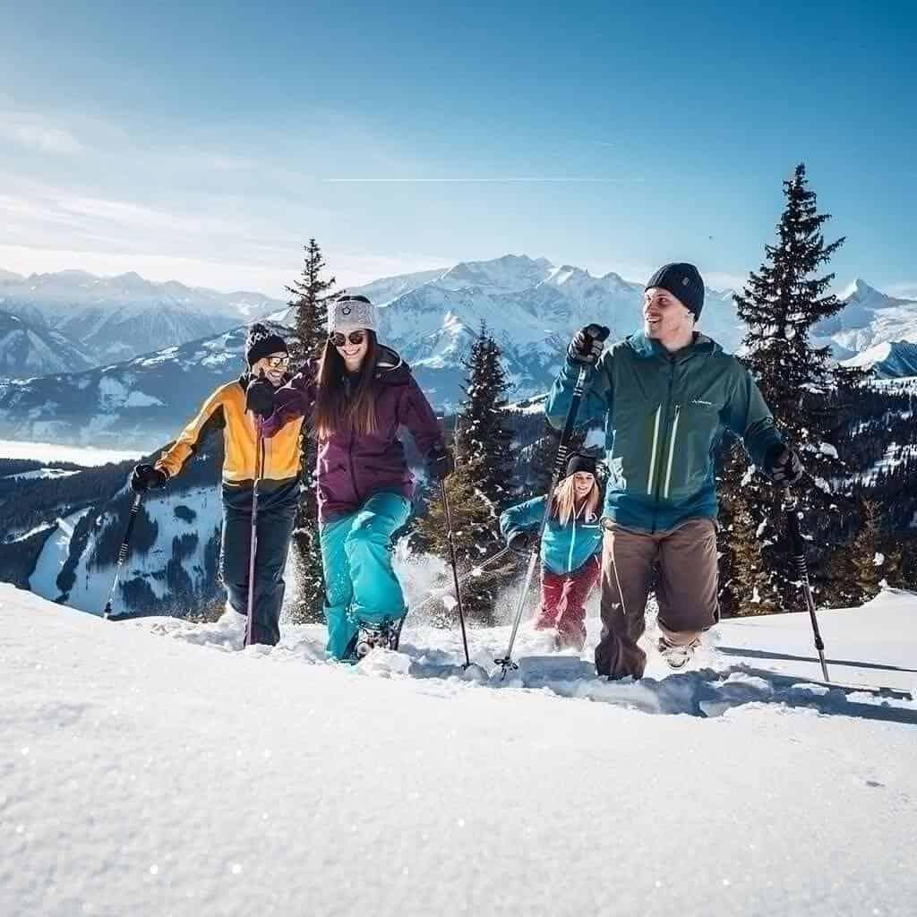 Schneeschuhwandern Winter